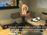 Blonde Stewardess Gets Fucked On Job Interview