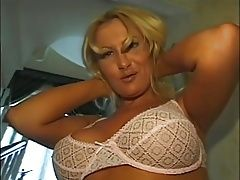 Dirty Blonde Takes 2 Cocks In Her Butthole