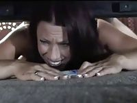 Step mom gets stuck under the bed