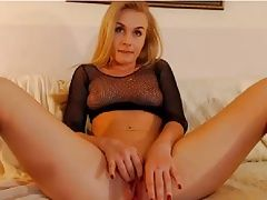Hot Blonde shows Ass, Pussy and Tit, having fun!