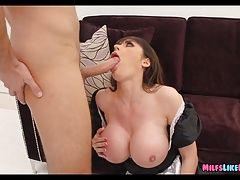 MILF Maid with Huge Tits