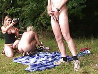 Krissy and Paige - British Outdoor Fun