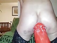 Biggest anal dildo ever.
