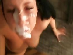 Super thick cum facial