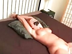 Sabrina Stone (Stephanie Beaton) bound and groped