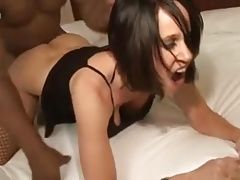 Hot Brunette MILF gets it on with Black Bodybuilder