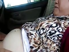 Old Chinese Couple Fucking in the Car