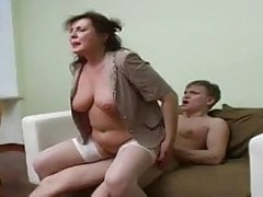 Sexy Chubby Russian Mature Fucked by Young Stud
