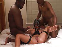 submissive catwoman used by 3 blacks