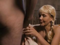 MAGGIE GYLLENHAAL HAS SEX WITH SOME VIKINGS AND GETTS CUM