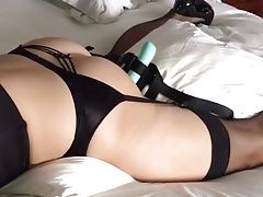 Grinding on her vibrator and cumming hard