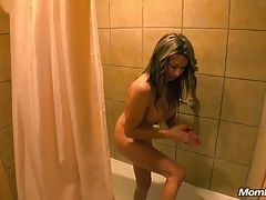Hot Latina MILF Shower Suck and Fuck