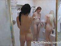 Sofia Banks, Lara Brookes and Skylar Green with a creampie