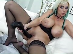 Mom Playing With Her Massive Dildo 1