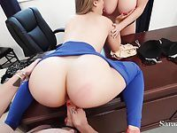 Teaches Sara & Maggie Fuck Bad Student Kimber in Threesome!