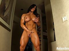 Aziani Iron Angela Salvagno female bodybuilder get naked