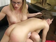 Femdom Lesbian Domination And Spanking