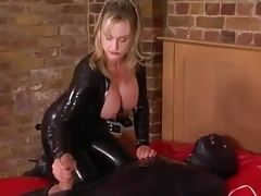 Mistress takes good care of Her mummyslave