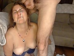 facial cumshots,,, Joanne is a cum-loving PIG