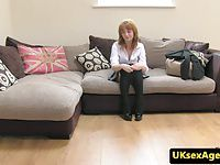 Bigtitted british redhead assfucked by agent