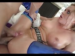 K.L Oiled Up Anal DP Fuck Whore
