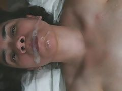 Cum falling from her lips! Lovely cumplay!