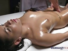 Massage Rooms Brunette Serbian hottie has multiple orgasms