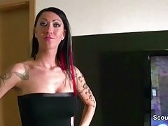 Hot German Step-Sister caught Him and help with Fuck