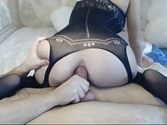 Amazing body in bodystocking anal sex