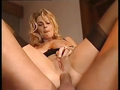 Exciting blonde cougar: pussy, anal and facial.