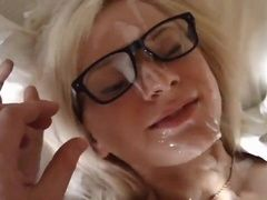 Hot russian girl. BJ, Footjob, Doggy style and nice cumshot.