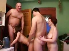 Teen young couple swingers for cash