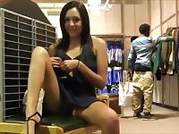 Flashing while shopping