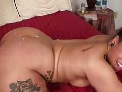very nice big ass ebony bitch takes doggy