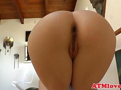 Gaping beauties show off their tight asses