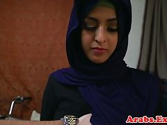 Amateur habiba sucking cock then gets plowed