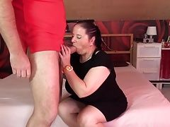 Petite chubby mature mom fucked by lucky son