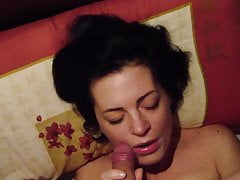 Cock sucking, russian milf