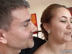 Beautiful girl participate Cuckquean