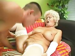 Busty Grandma Effie Gets Drilled