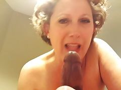 Sucking BBC on my dinner table