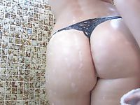 19yr old busty pawg taking a shower