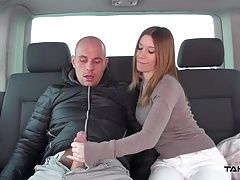 Takevan - Spanish big tits cutie need lift to city for fuck