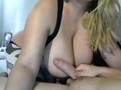handjob by fat bit tits mom