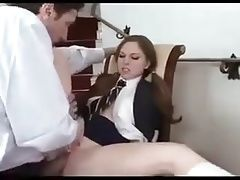 Hot schoolgirl fucking an older guy