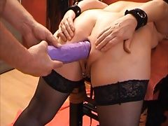 SKLAVIN-Z and her big violet anal Toy