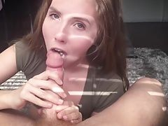 Young blonde wife is every guys dream with her blowjobs