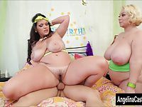 Angelina Castro BBW Birthday 3Way Treat!