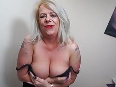 Big booty and big breasted British mother goes wild