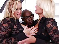 2 Blonde Sluts Lets Black Guy Use Ass Like Tube Socks